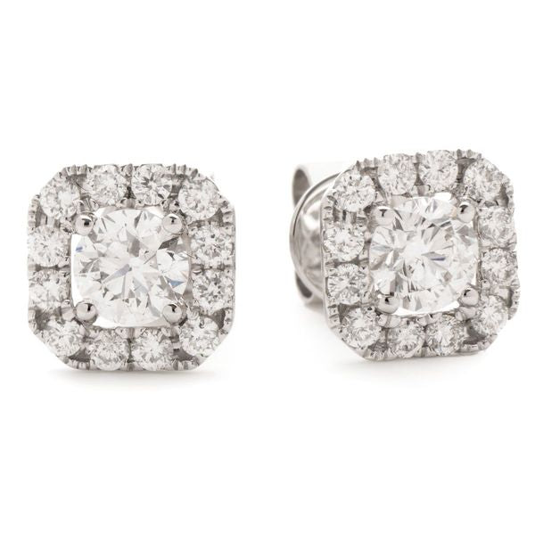 Halo Earring Set 0.55ct - 1.10ct - Hamilton & Lewis Jewellery