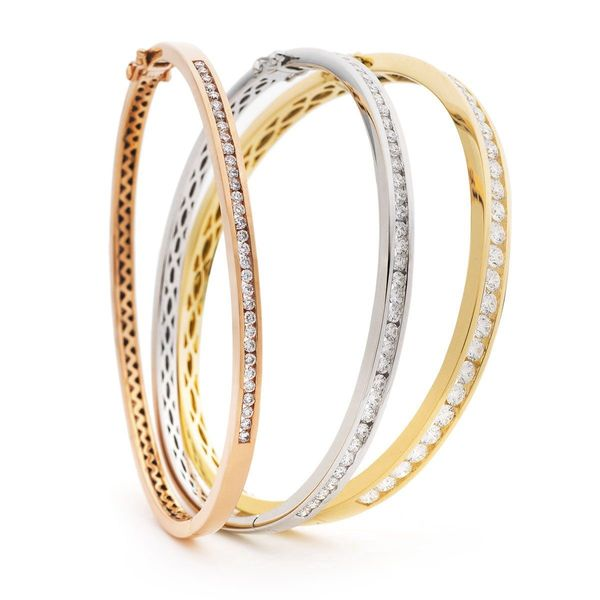 Channel set bangle 0.60ct - 3.00ct - Hamilton & Lewis Jewellery