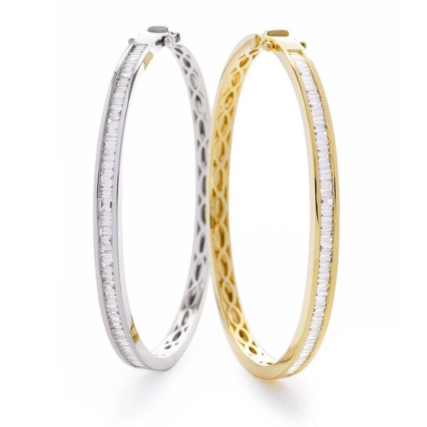 Channel set bangle 1.50ct - Hamilton & Lewis Jewellery