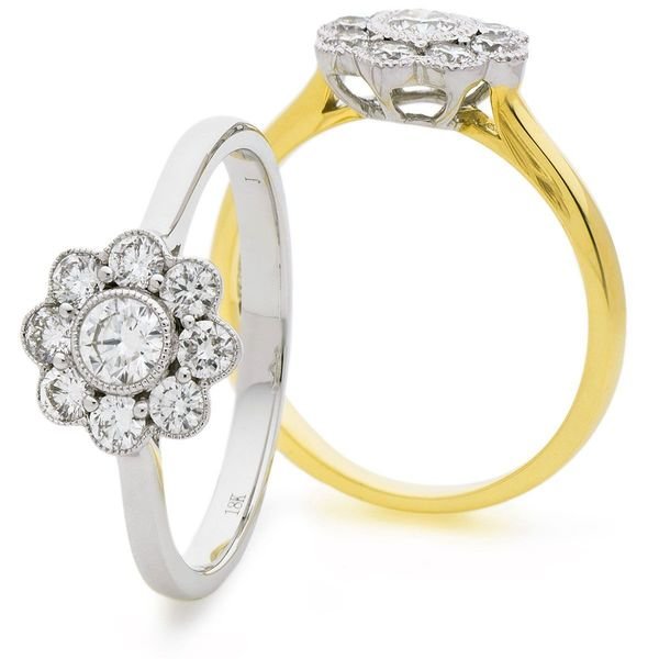 Classic Deco Cluster Ring 0.60ct - Hamilton & Lewis Jewellery