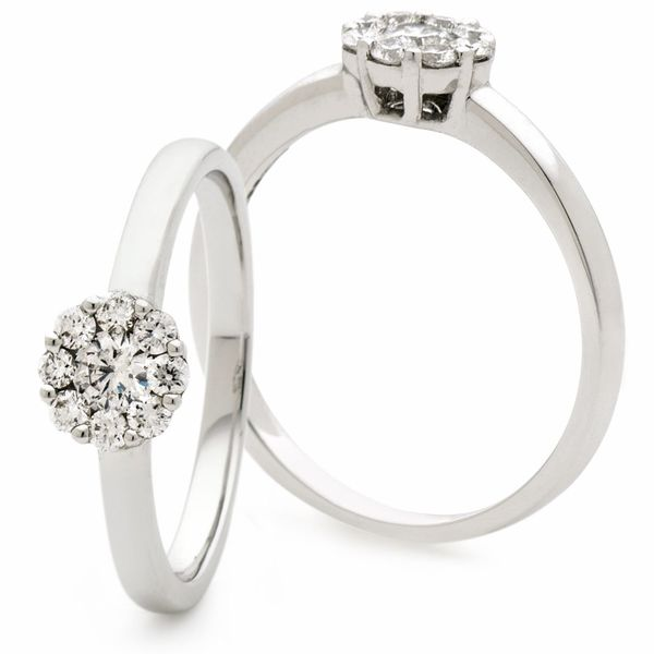 Classic Deco Cluster Ring 0.40ct - Hamilton & Lewis Jewellery