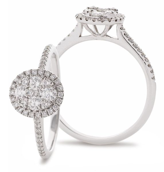 Classic Cocktail Cluster Ring 0.40ct - Hamilton & Lewis Jewellery