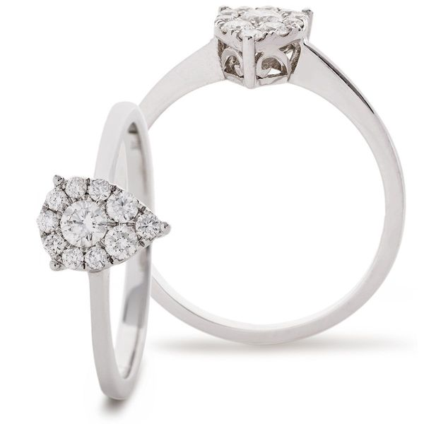 Classic Cocktail Cluster Ring 0.33ct - Hamilton & Lewis Jewellery