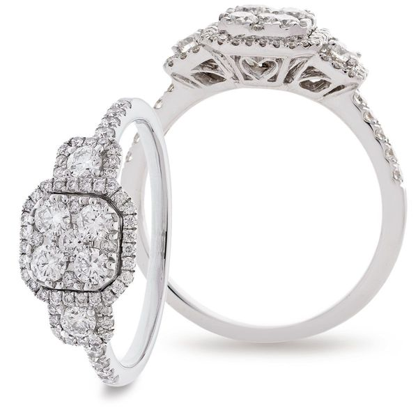 Classic Cocktail Cluster Ring 0.70ct - Hamilton & Lewis Jewellery