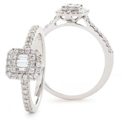 Classic Cocktail Cluster Ring 0.60ct - Hamilton & Lewis Jewellery