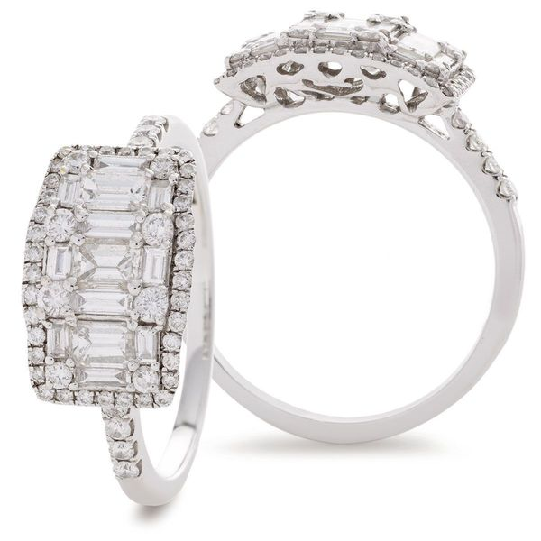 Classic Cocktail Cluster Ring 0.65ct - 1.50ct - Hamilton & Lewis Jewellery