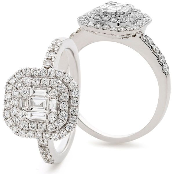 Classic Cocktail Cluster Ring 0.90ct - Hamilton & Lewis Jewellery
