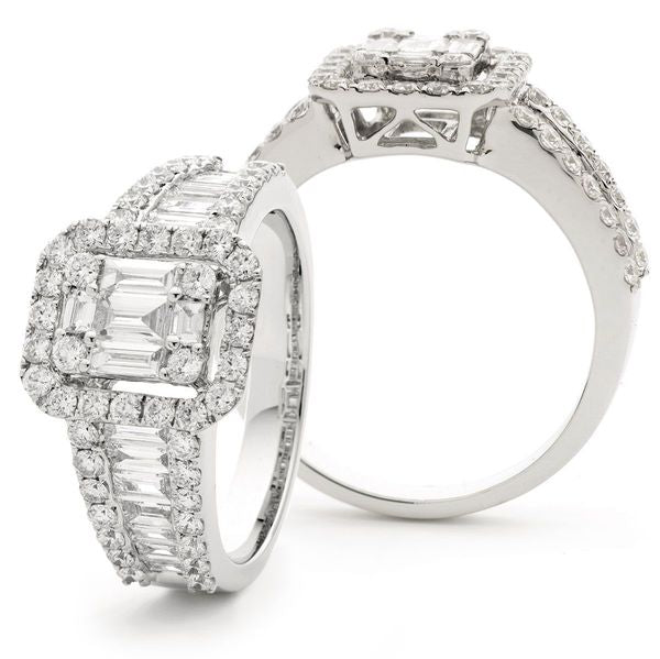 Classic Cocktail Cluster Ring 1.25ct - 1.60ct - Hamilton & Lewis Jewellery