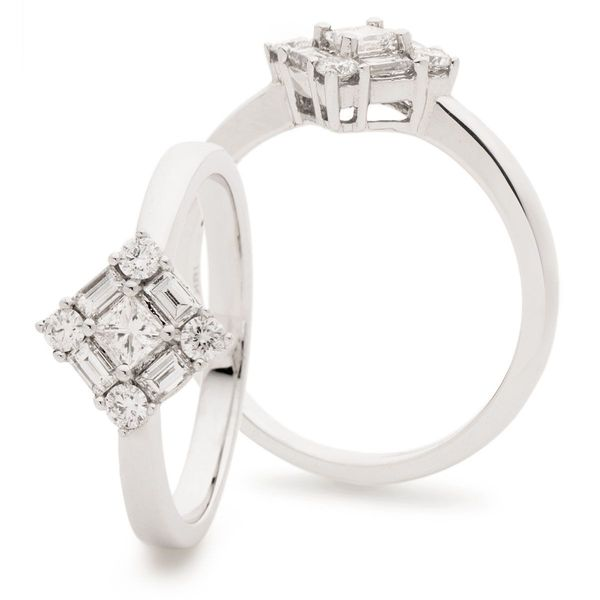 Classic Cocktail Cluster Ring 0.50ct - Hamilton & Lewis Jewellery