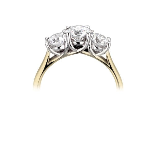 Trilogy multi-stone ring 0.57ct - 2.10ct - Hamilton & Lewis Jewellery