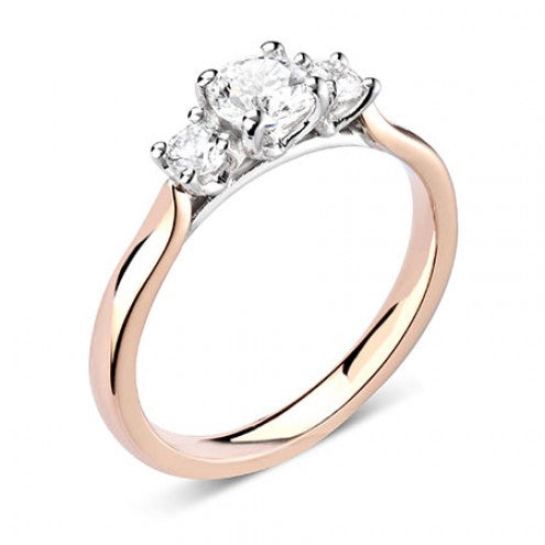 Four-Claw Round Three-Stone Ring 0.37ct - 0.93ct - Hamilton & Lewis Jewellery