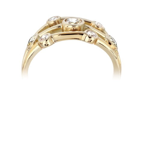 Triple row bubble ring 0.44ct - Hamilton & Lewis Jewellery