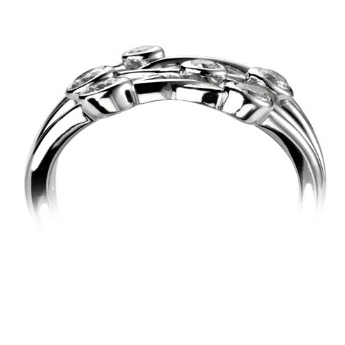 Triple Row Bubble Ring 0.43ct - Hamilton & Lewis Jewellery