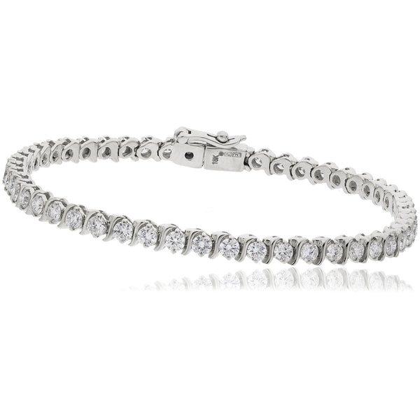 Claw set tennis bracelet 3.00ct - 5.00ct - Hamilton & Lewis Jewellery