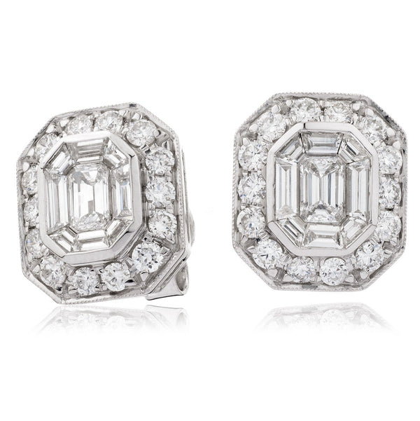 Cluster Earring Set 1.70ct - Hamilton & Lewis Jewellery
