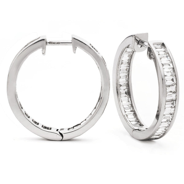 Diamond Hoop Earring Set 1.00ct - 3.00ct - Hamilton & Lewis Jewellery