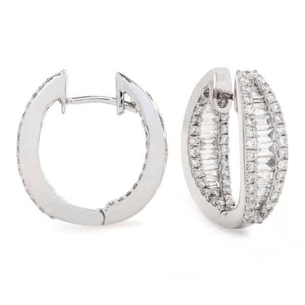 Diamond Hoop Earring Set 1.25ct - Hamilton & Lewis Jewellery