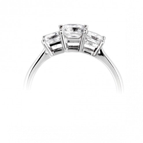 Princess cut trilogy ring 0.46ct - 2.00ct - Hamilton & Lewis Jewellery