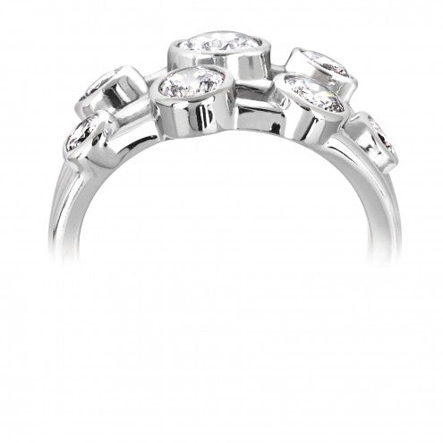Triple Row Bubble Ring 1.00ct - 1.50ct - Hamilton & Lewis Jewellery