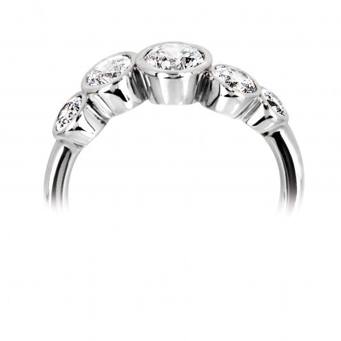 Multi-stone Wave Ring 0.63ct - 1.00ct - Hamilton & Lewis Jewellery