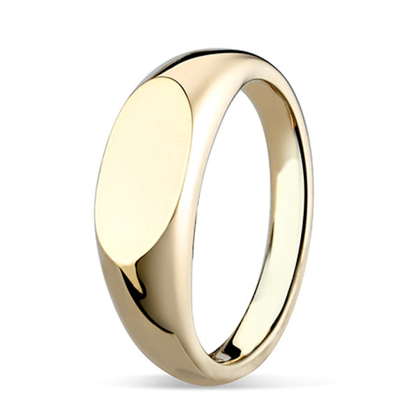 Elongated Oval Signet Ring SR73 - Hamilton & Lewis Jewellery