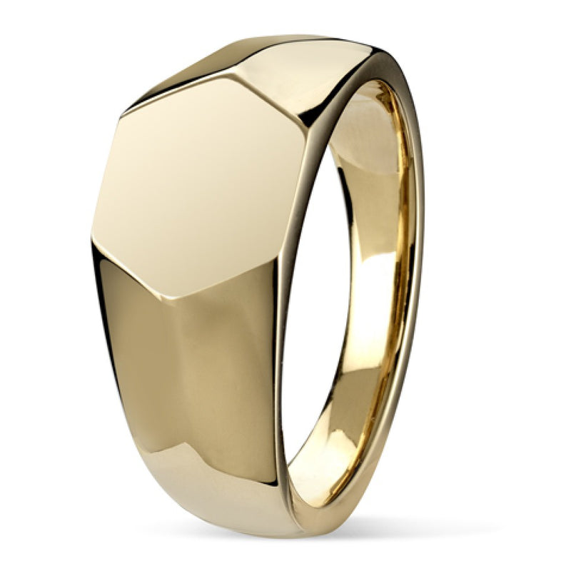 Hexagon Signet Ring SR74 - Hamilton & Lewis Jewellery