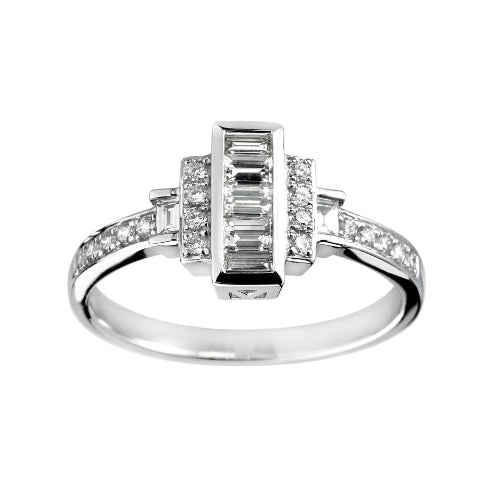 Empire Engagement Ring 0.46ct - Hamilton & Lewis Jewellery