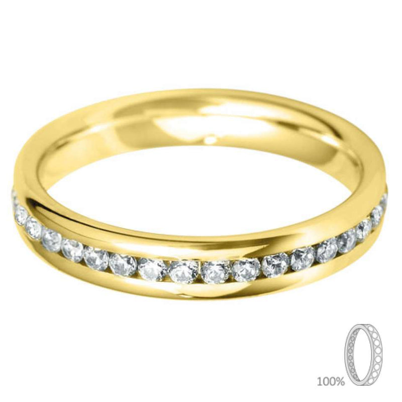 3.5mm Channel Set Wedding Band
