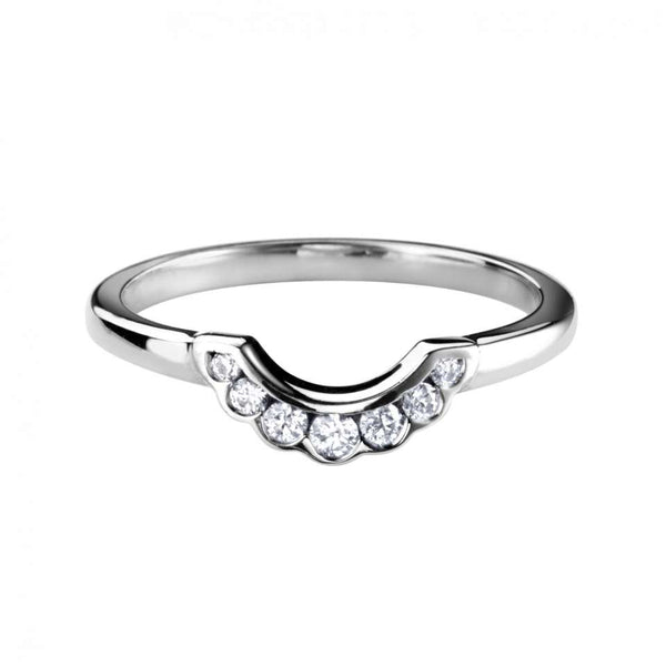 Frilly Channel Set shaped wedding ring - Hamilton & Lewis Jewellery