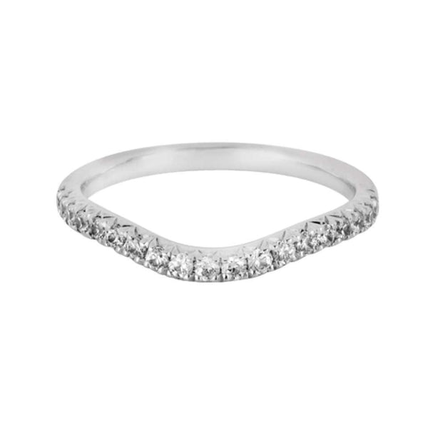 Fishtail Set shaped wedding ring - Hamilton & Lewis Jewellery