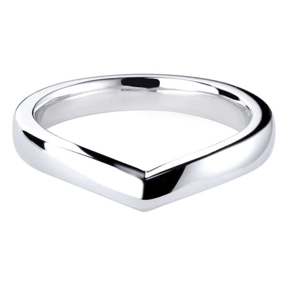 Plain V-shaped wedding ring - Hamilton & Lewis Jewellery