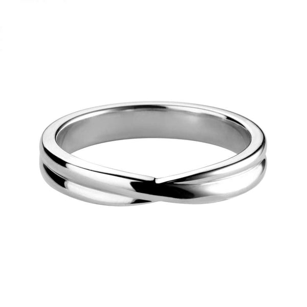 Crossover shaped wedding ring - Hamilton & Lewis Jewellery