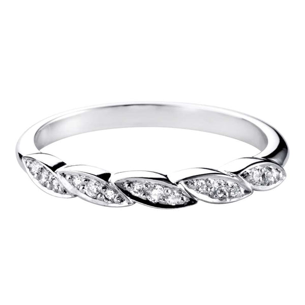 Diamond Set shaped wedding ring - Hamilton & Lewis Jewellery