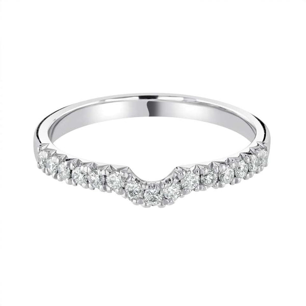 Scalloped shaped wedding ring - Hamilton & Lewis Jewellery