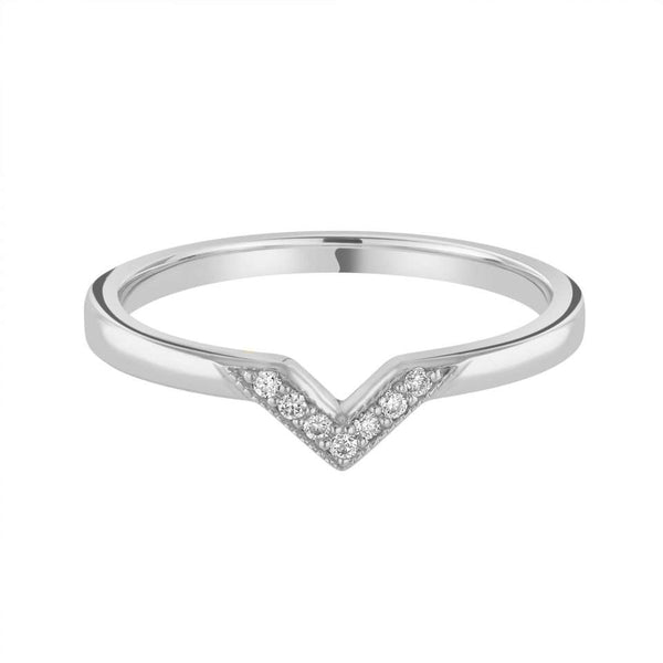 Grain Set shaped wedding ring - Hamilton & Lewis Jewellery