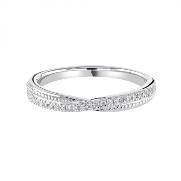Castle-Set with Multigrain shaped wedding ring - Hamilton & Lewis Jewellery