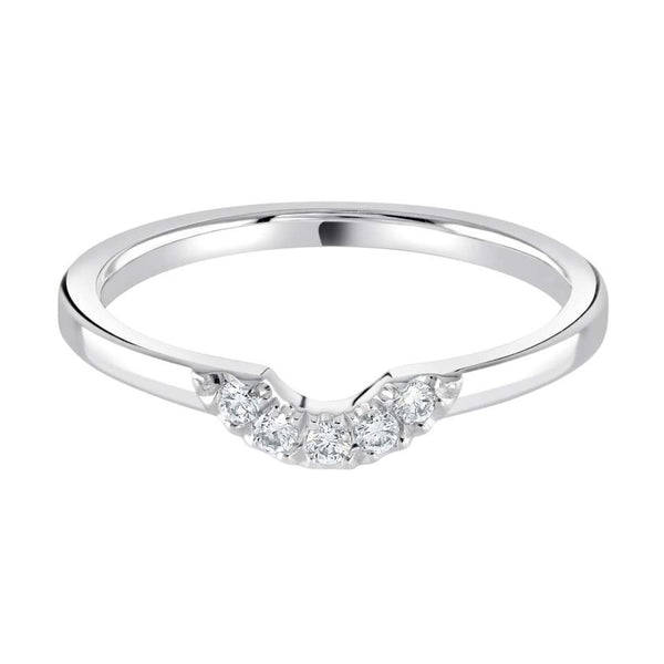 Castle-set shaped wedding ring - Hamilton & Lewis Jewellery