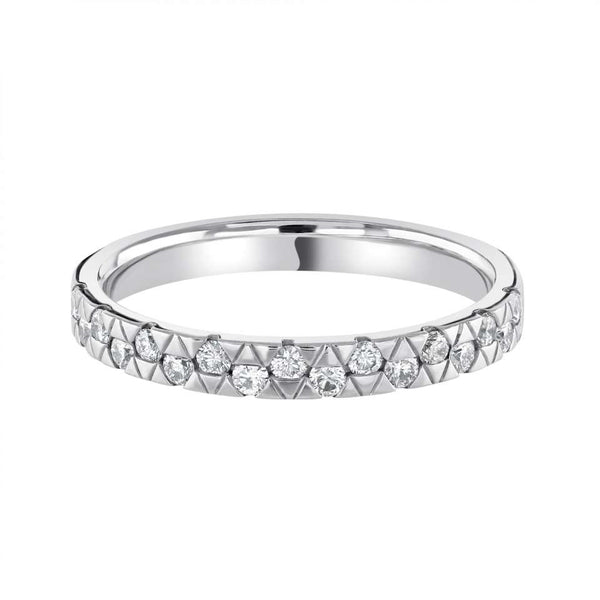 Fancy Triangle set shaped wedding ring - Hamilton & Lewis Jewellery