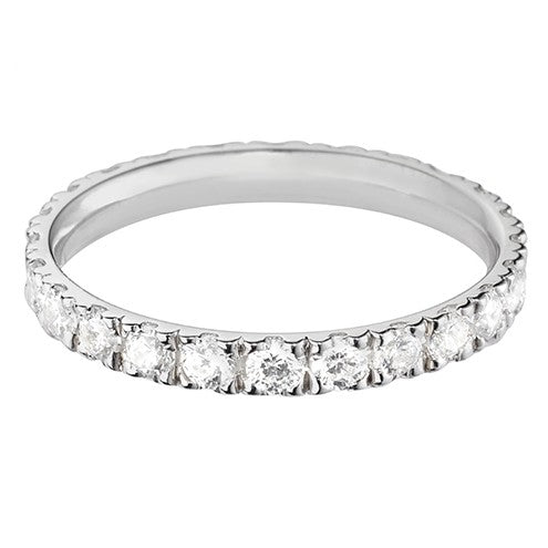 2.5mm (100%) Vintage Eternity With Scalloped Edge Setting. - Hamilton & Lewis Jewellery