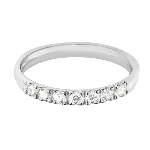 2.5mm (40%) Vintage Eternity With Scalloped Edge Setting. - Hamilton & Lewis Jewellery