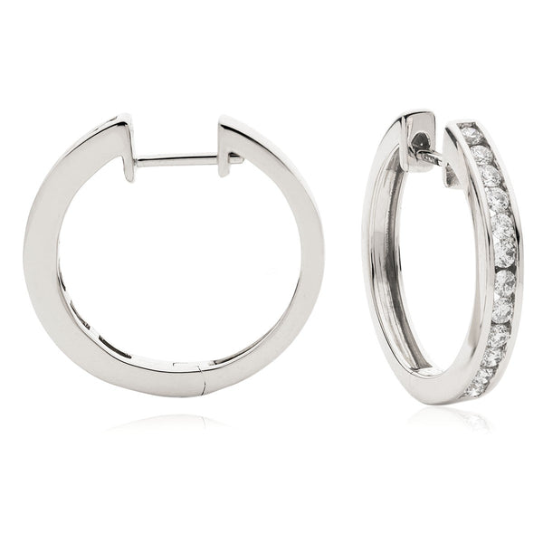 Diamond Hoop Earring Set 0.35ct - 0.50ct - Hamilton & Lewis Jewellery