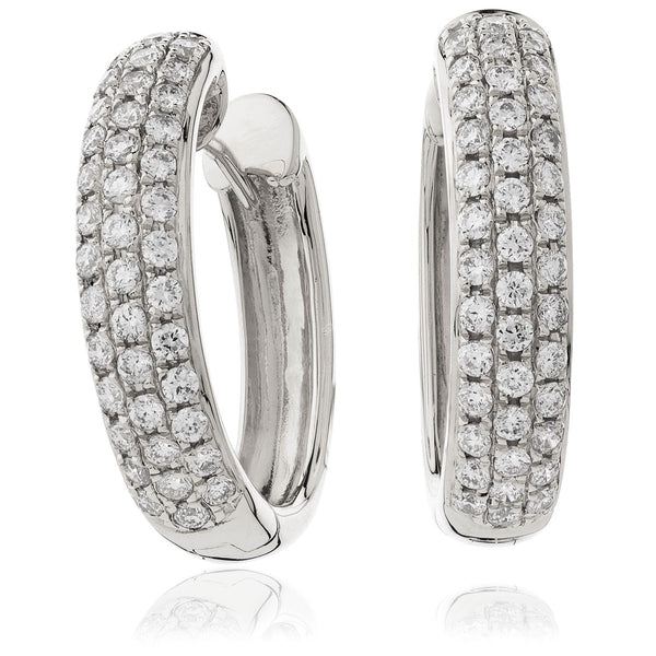 Diamond Hoop Earring Set 0.70ct - Hamilton & Lewis Jewellery