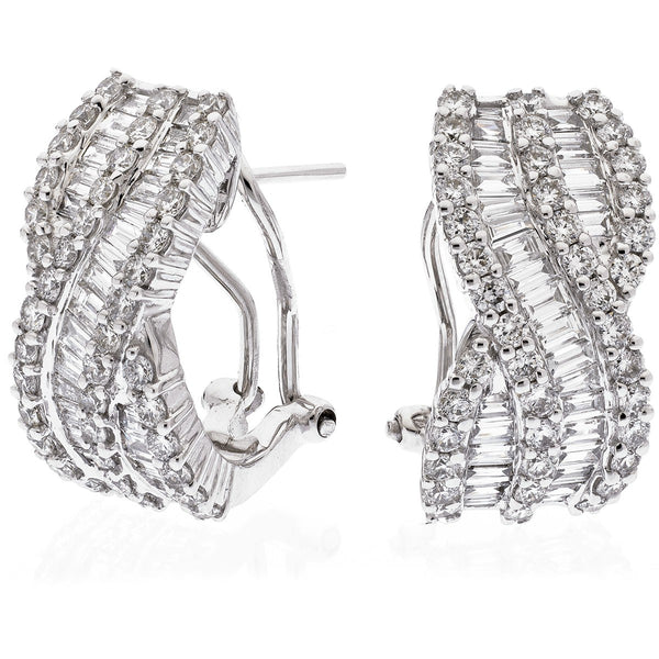 Diamond Hoop Earring Set 2.80ct - Hamilton & Lewis Jewellery