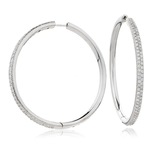 Diamond Hoop Earring Set 1.50ct - Hamilton & Lewis Jewellery