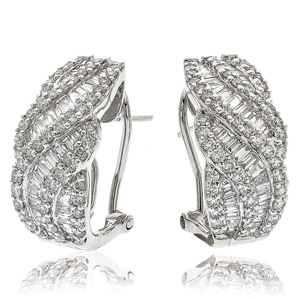 Diamond Hoop Earring Set 2.00ct - Hamilton & Lewis Jewellery