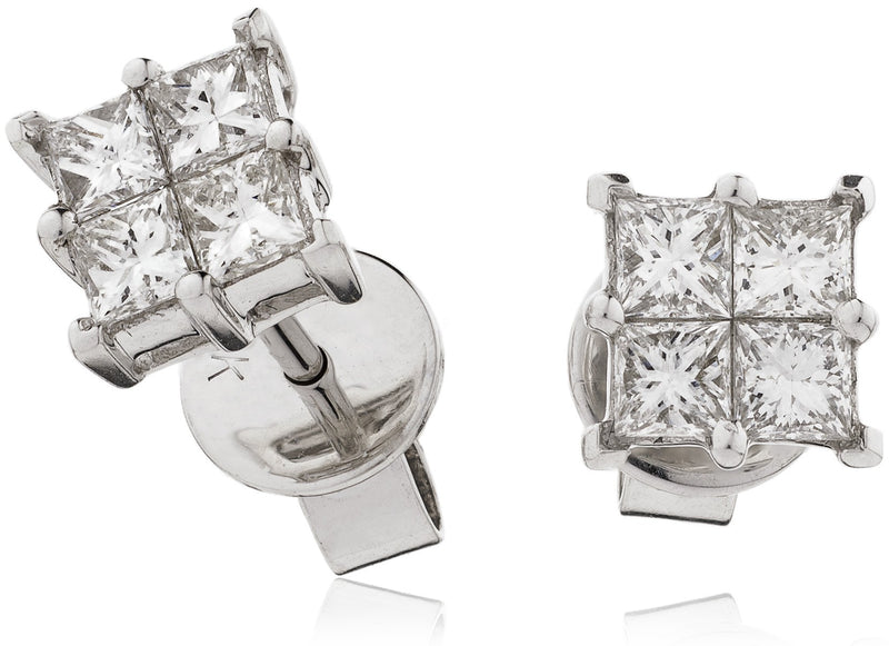 Cluster Earring Set 0.60ct - Hamilton & Lewis Jewellery
