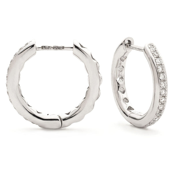 Diamond Hoop Earring Set 0.17ct - Hamilton & Lewis Jewellery