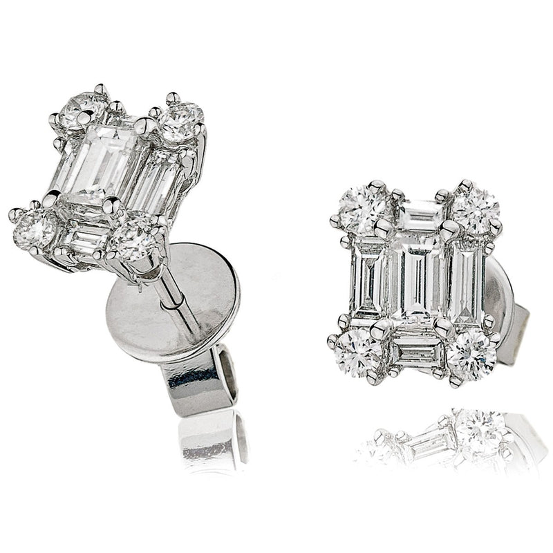 Cluster Earring Set 0.80ct - Hamilton & Lewis Jewellery