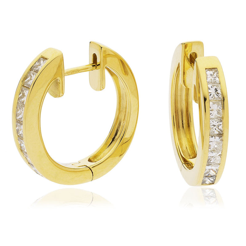 Diamond Hoop Earring Set 1.00ct - Hamilton & Lewis Jewellery