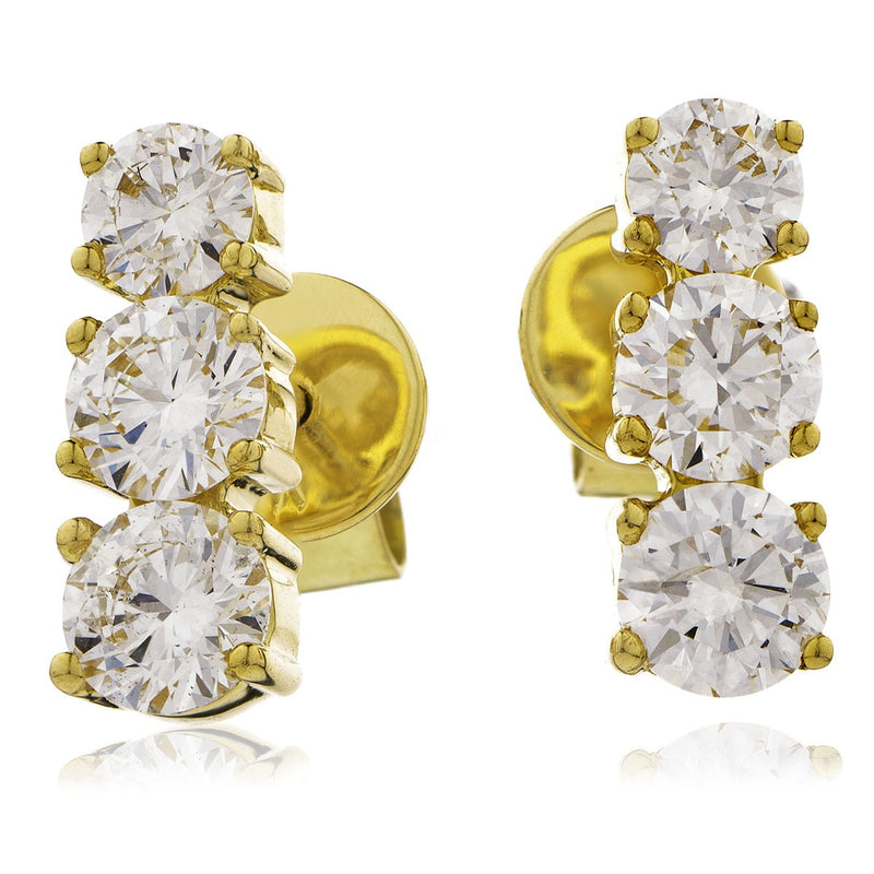 Trilogy Earring Set 0.75ct - 1.30ct - Hamilton & Lewis Jewellery